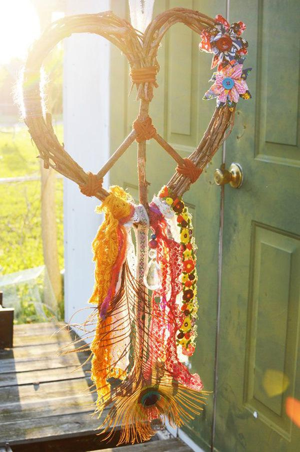 GYPSY DREAM Love Heart Wreath Peace Dream Catcher