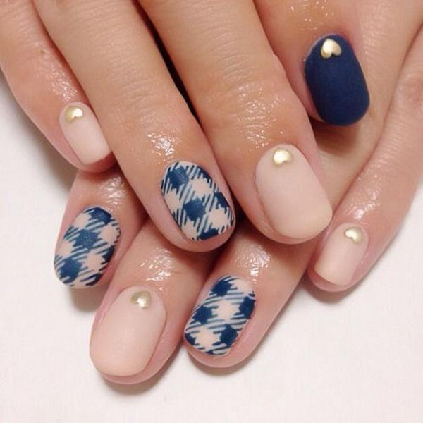 Gingham Nail Designs-1