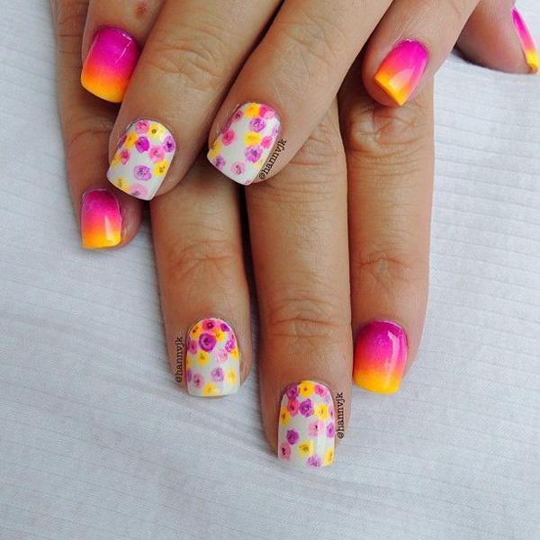 40+ Fabulous Gradient Nail Art Designs | Art and Design