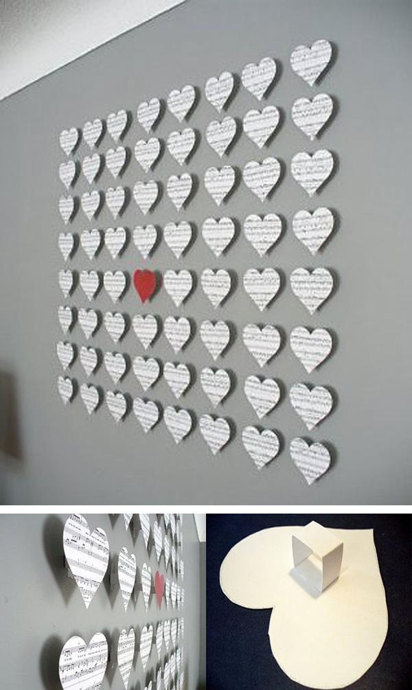 Heart flow in the melody– DIY Wall Decor