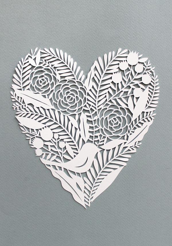 Heart paper cut