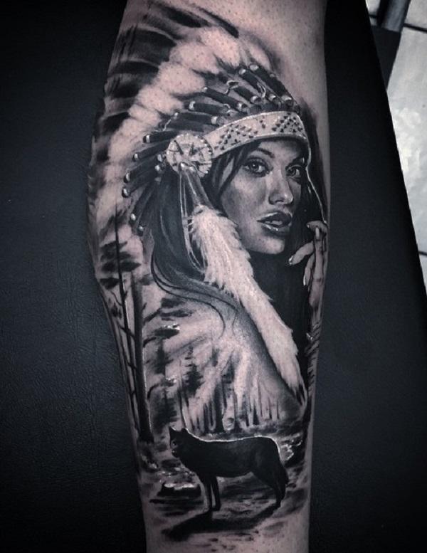 3f44384c8 Native American Colf Tattoo for Man - 70 Native American Tattoo Designs ...