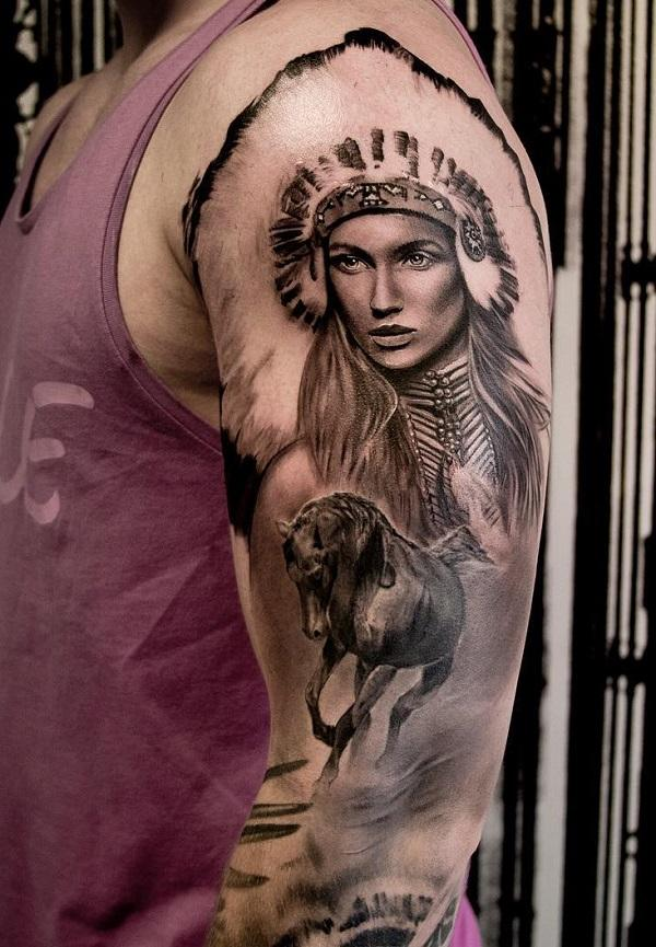 0f5049b70 70 Native American Tattoo Designs | Art and Design