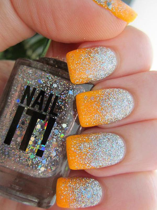 Neon Multicolor Gradient Nail