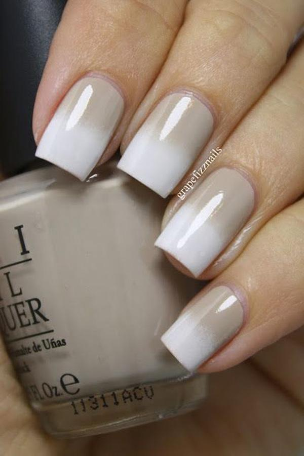 Nice nude and white gradient