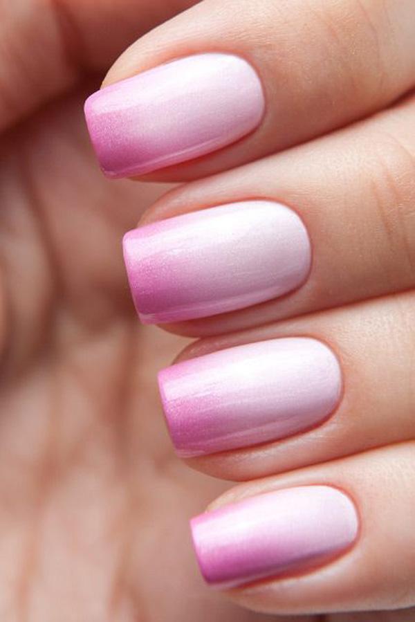 Pink gradient Nail