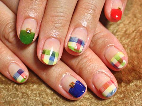 Plaid Nail Art-2