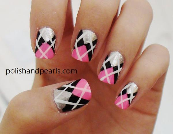 Plaid Nail Art-3