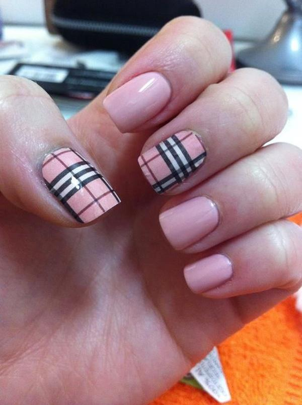 Plaid Nail Art-5