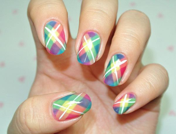 Plaid Nail Art-6