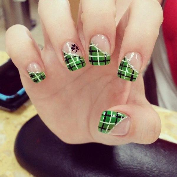 35 gingham and plaid nail art designs art and design what do you get when you play around with french tips prinsesfo Choice Image
