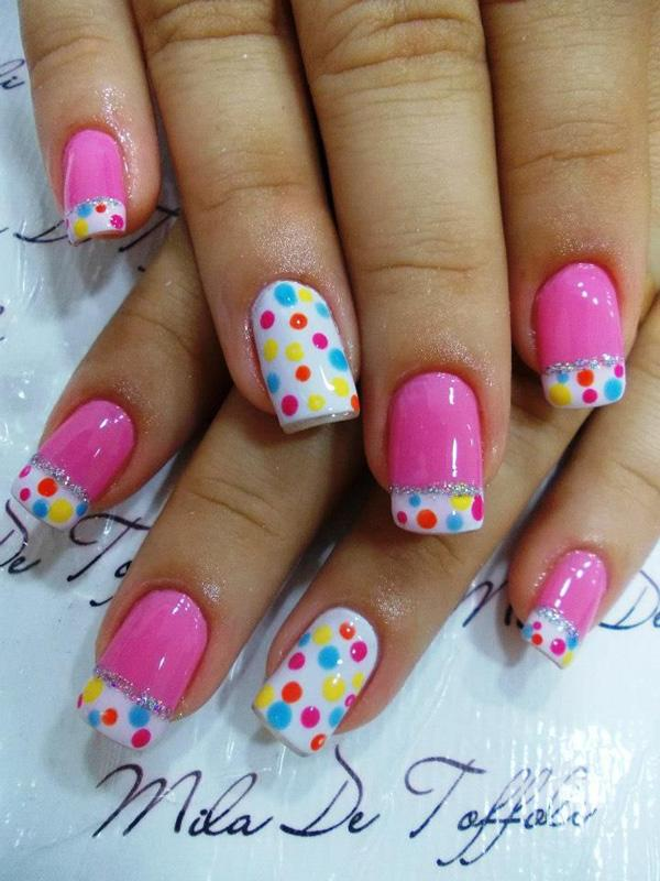 Polka Dot Nails - 30 Adorable Polka Dots Nail Designs  <3 <3
