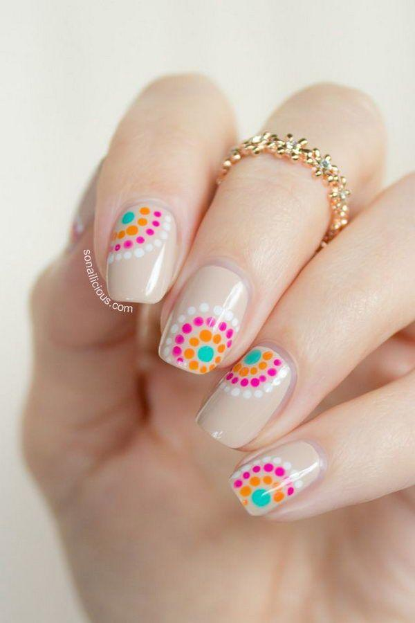 30 adorable polka dots nail designs art and design polka dot nails 30 adorable polka dots nail designs prinsesfo Images