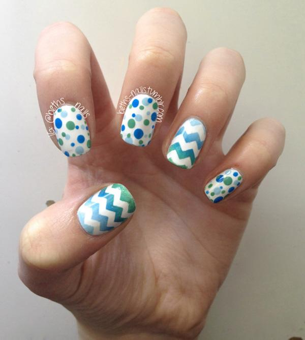 Polka Dot Nails - 30+ Adorable Polka Dots Nail Designs ... - 30+ Adorable Polka Dots Nail Designs Art And Design