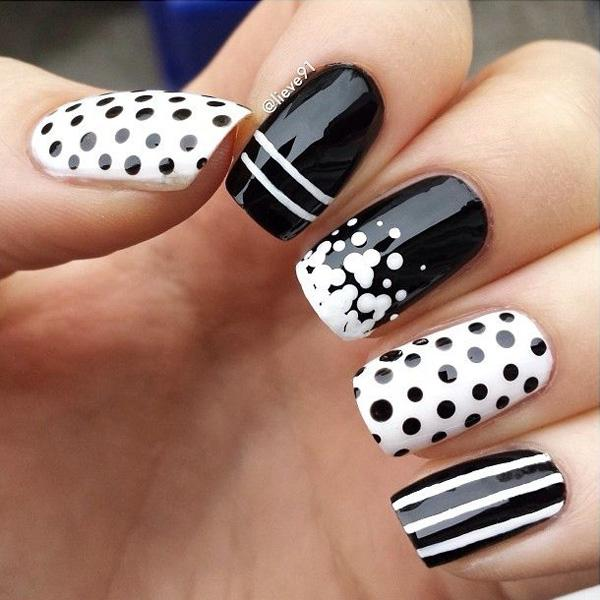 Polka Dots Nail Designs - 30+ Adorable Polka Dots Nail Designs ... - 30+ Adorable Polka Dots Nail Designs Art And Design