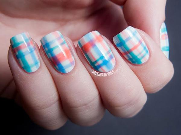Pretty in Plaid  Nail