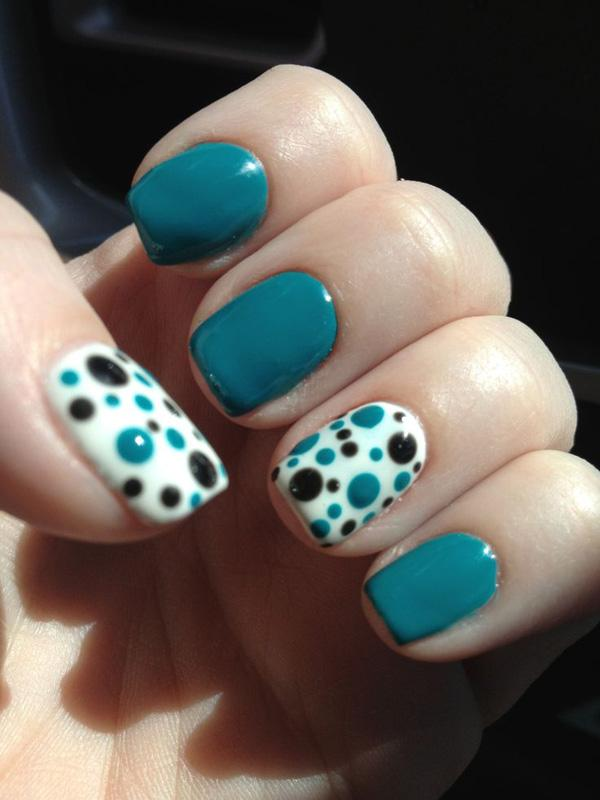 Summer polka dot nails