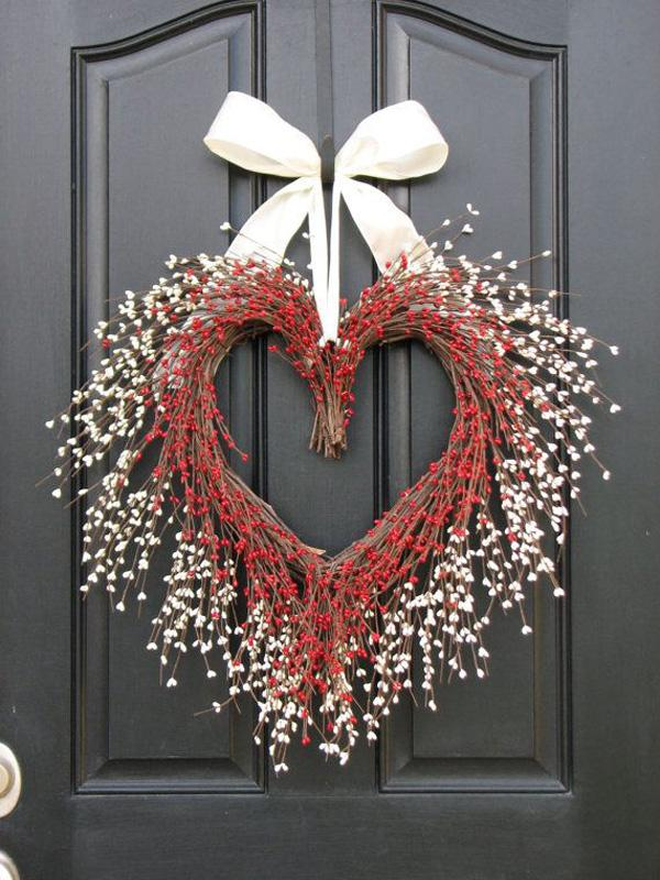 VALENTINE WREATH, Door Wreaths - You Have My Heart - Personalized Decor