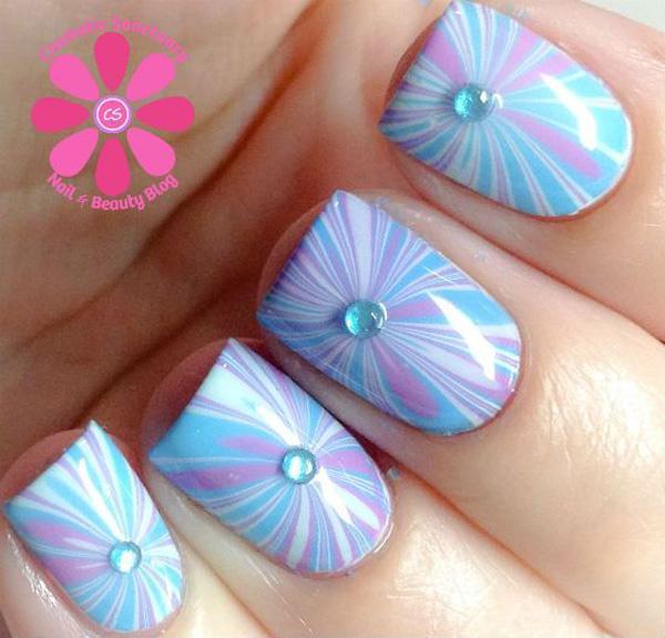 Water Marble Nail Art-2