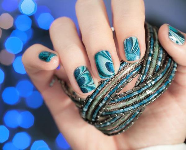 Water Marble Nail Art-27