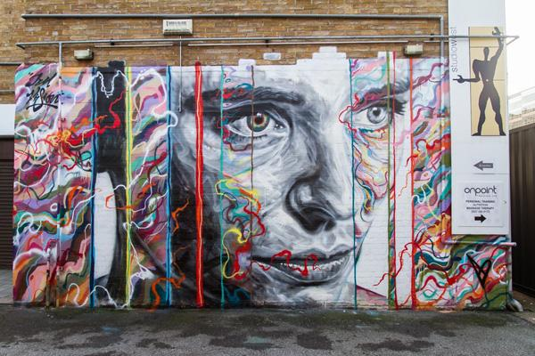 David Walker and Jim Vision collaborate on portrait in Shoreditch, London