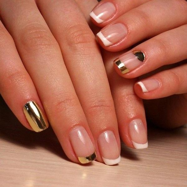 Elegant French Metallic Manicures