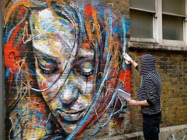 Freehand Spray David at work in London 2010