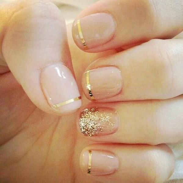 French Metallic Manicures