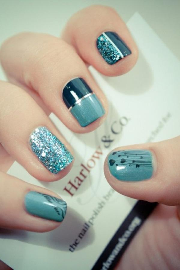 Generous Blue Metallic Manicures
