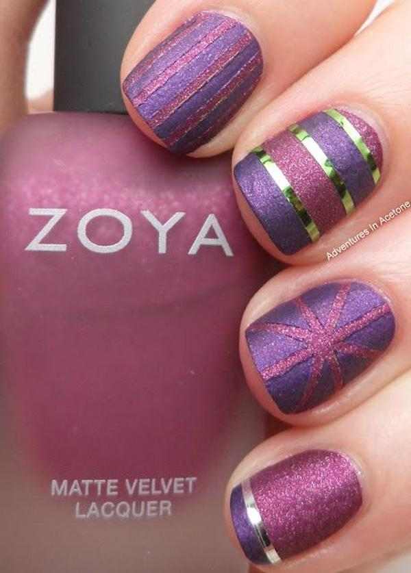 Generous Purple Metallic Manicures