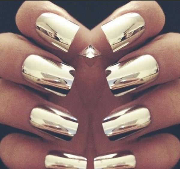 Gold  Metallic Manicures