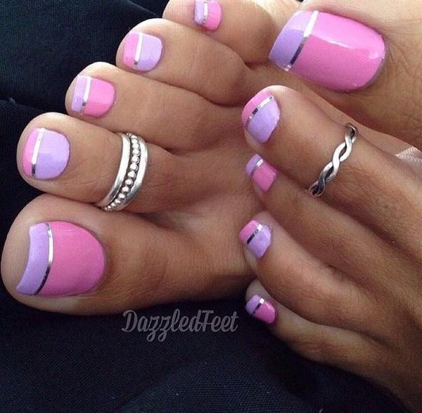 Metallic Manicures Toenails