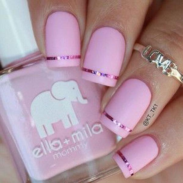 Pretty Pink Metallic Manicures
