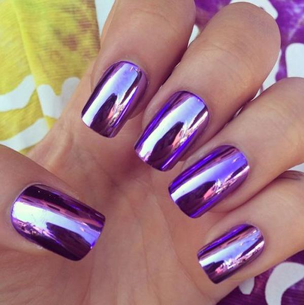 Purple Metallic Manicures