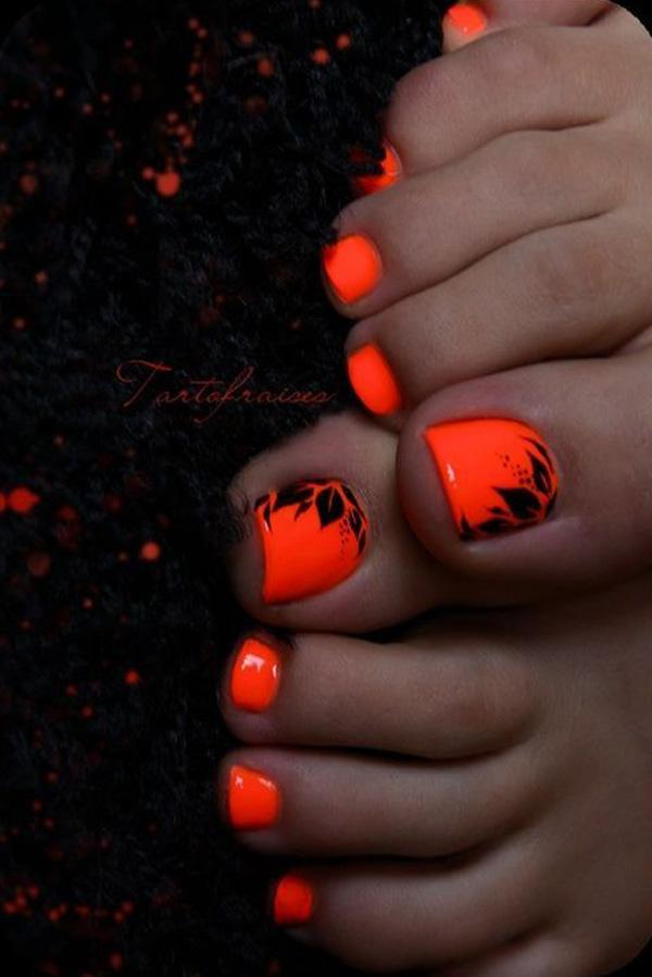 a Neon Orange And Black Themed