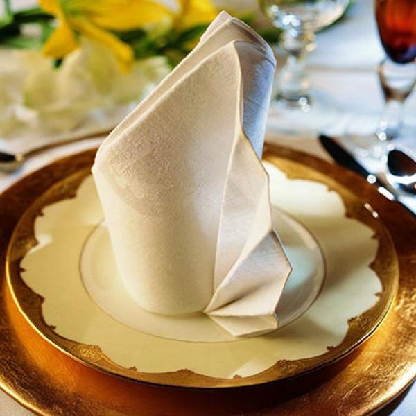 pliage-serviette-tissu-blanche-occasion-spéciale