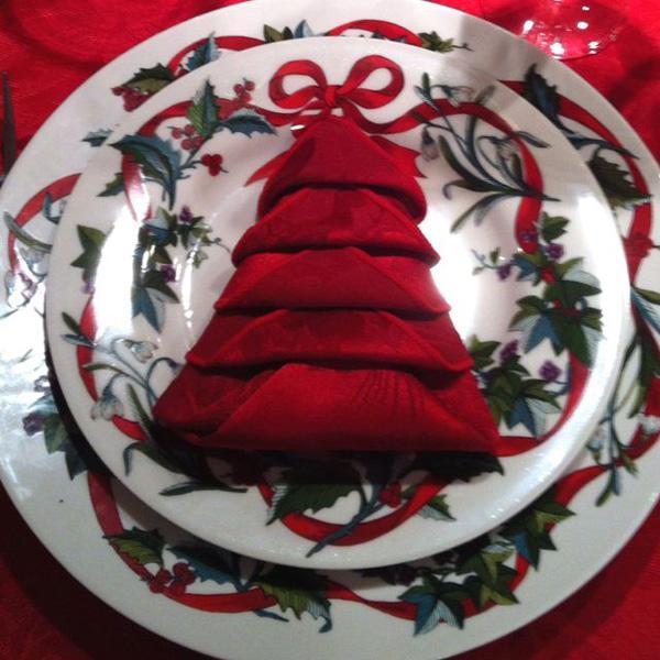 pretty napkin fold