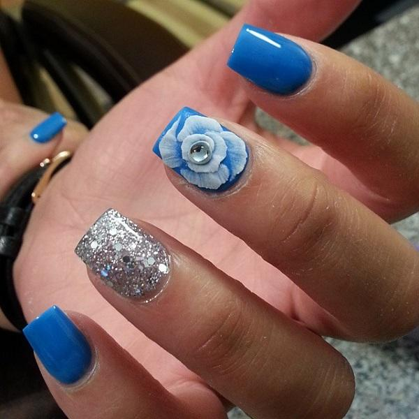 Blue nail for fall-28