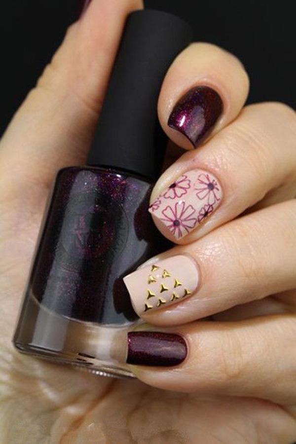 Elegant fall nail-22