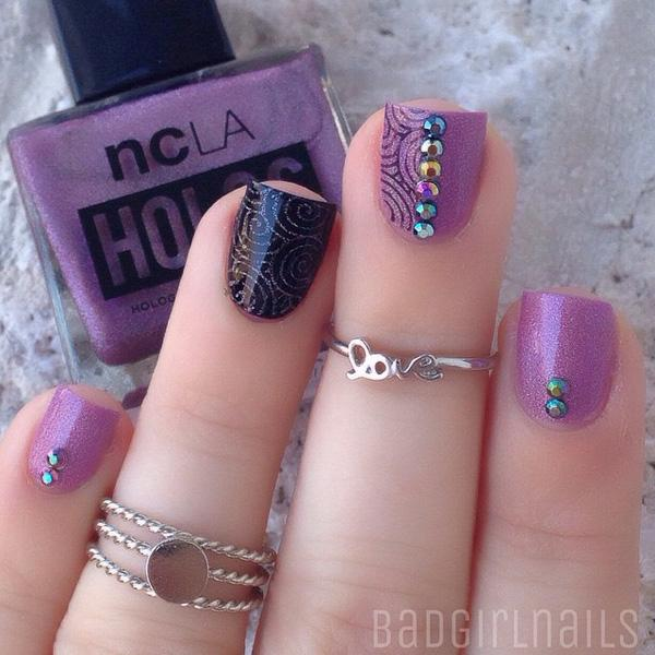 Elegant fall nail-43