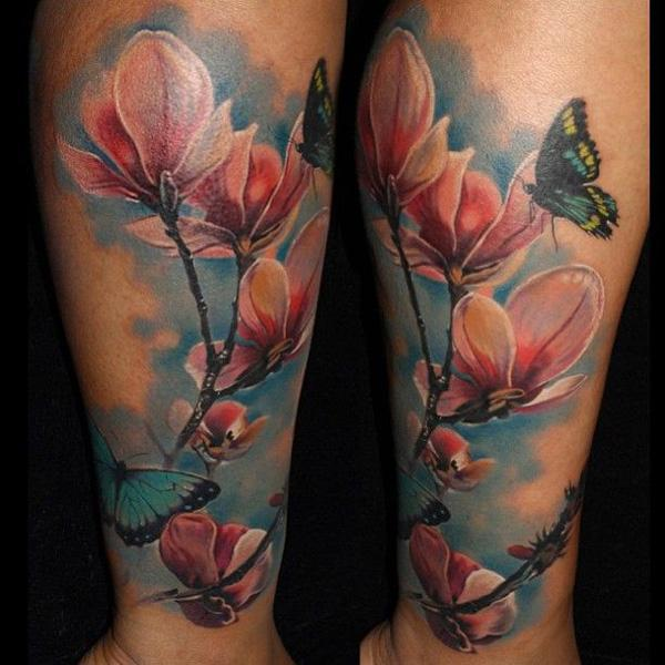 Magnolia Tattoo by Laura Juan