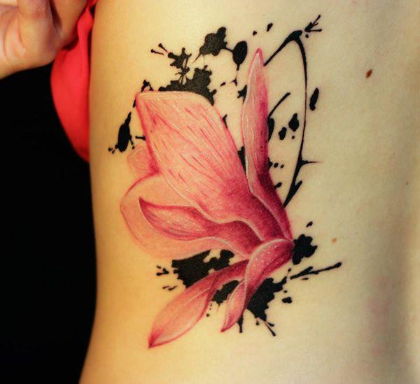 Magnolias side tattoo