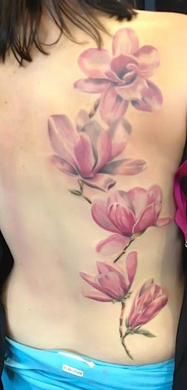 Pretty magnolia tattoo