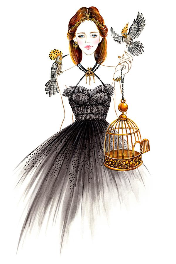 Set It Free, outfit inspired by Valentino Couture Fall 2015 collection