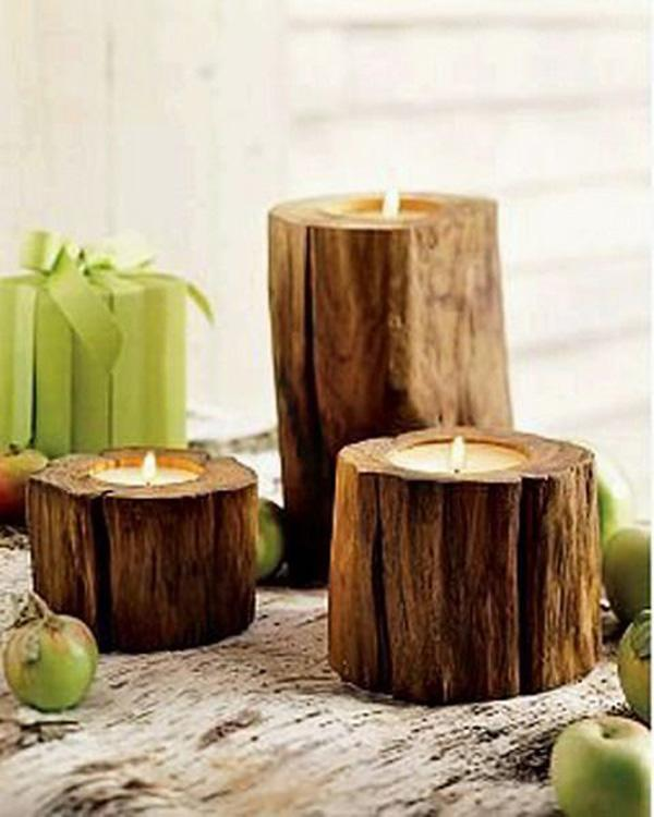 Wood Candle Holders-2