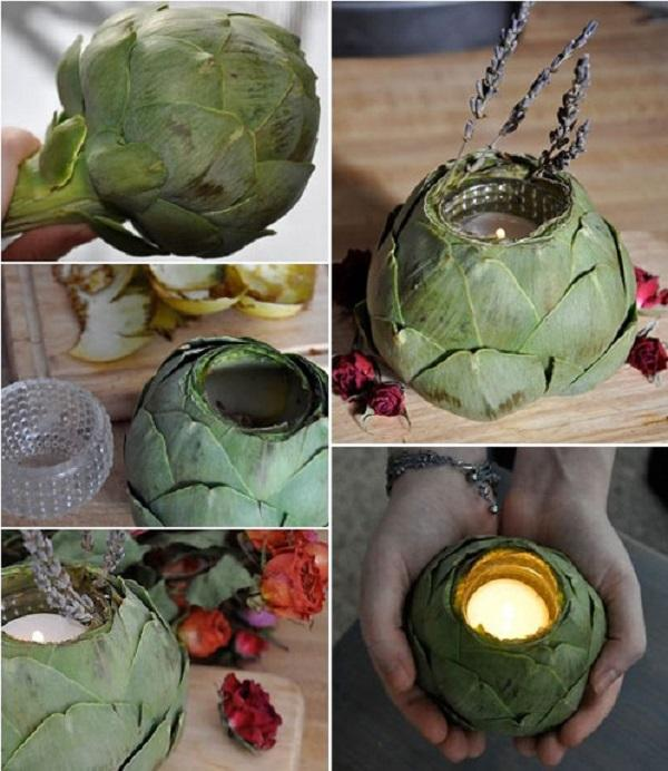 artichoke candle holder tutorial