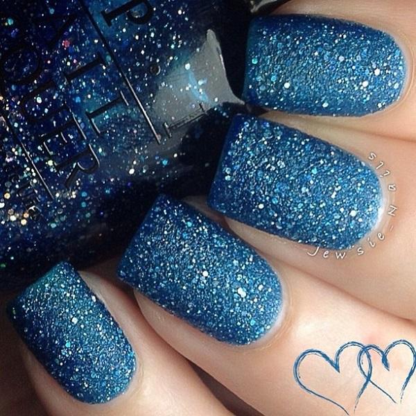 blue glitter nail--29