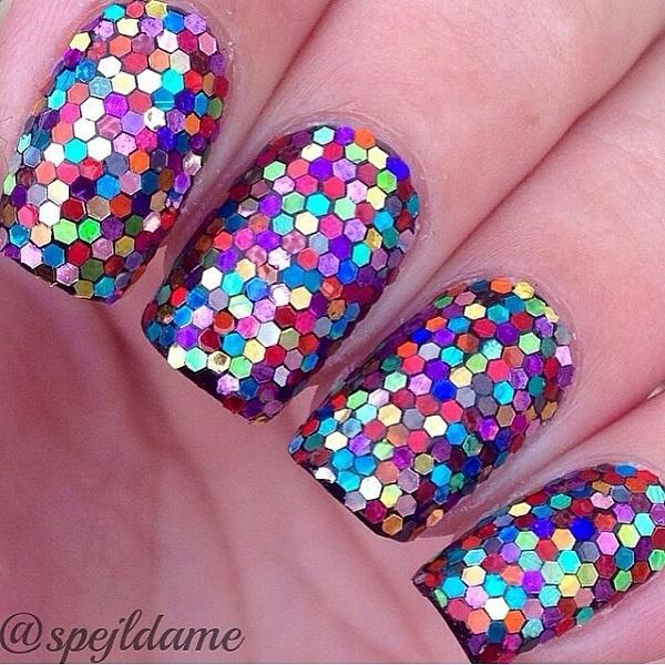 colorful glitter nail-13
