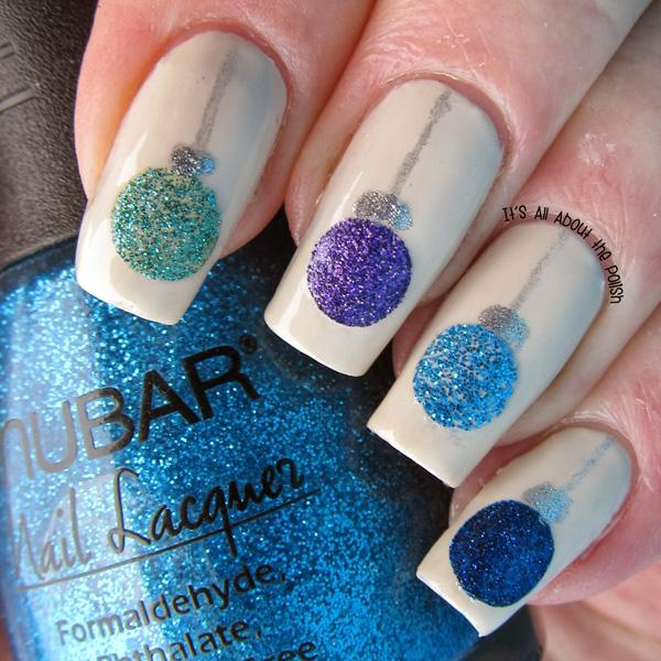 Sparkly Nail Art Design Perfect For The Fall Season With A White Matte Background And Cool