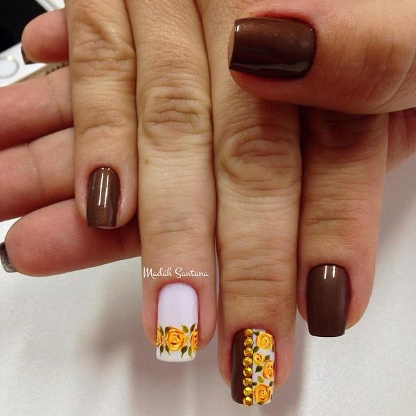 fall nail - 55 Seasonal Fall Nail Art Designs ... - 55 Seasonal Fall Nail Art Designs Art And Design